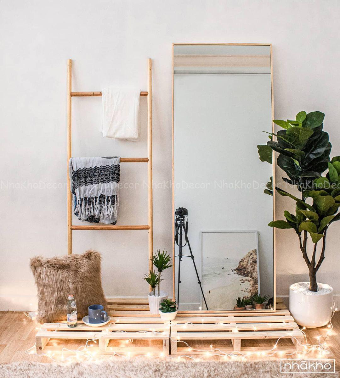 Thang gỗ treo quần áo tiện lợi kiêm luôn đồ decor giá chỉ từ 250k - Ảnh 3.