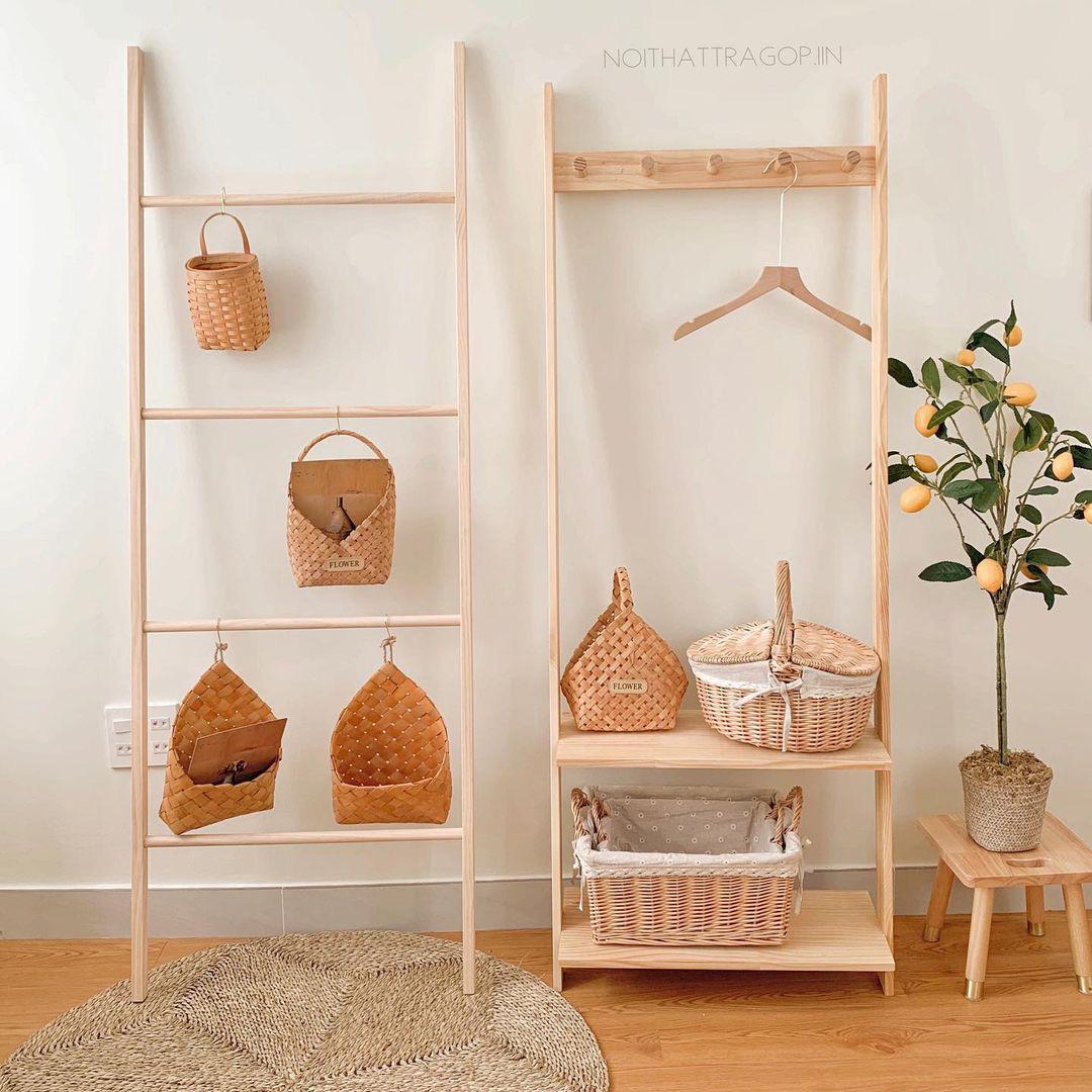 Thang gỗ treo quần áo tiện lợi kiêm luôn đồ decor giá chỉ từ 250k - Ảnh 2.