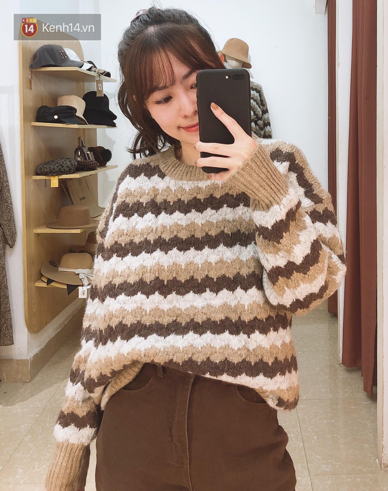Mua áo len ở khu Chùa Láng: Chỉ từ 280K đã sắm được áo vừa xinh vừa ấm - Ảnh 7.