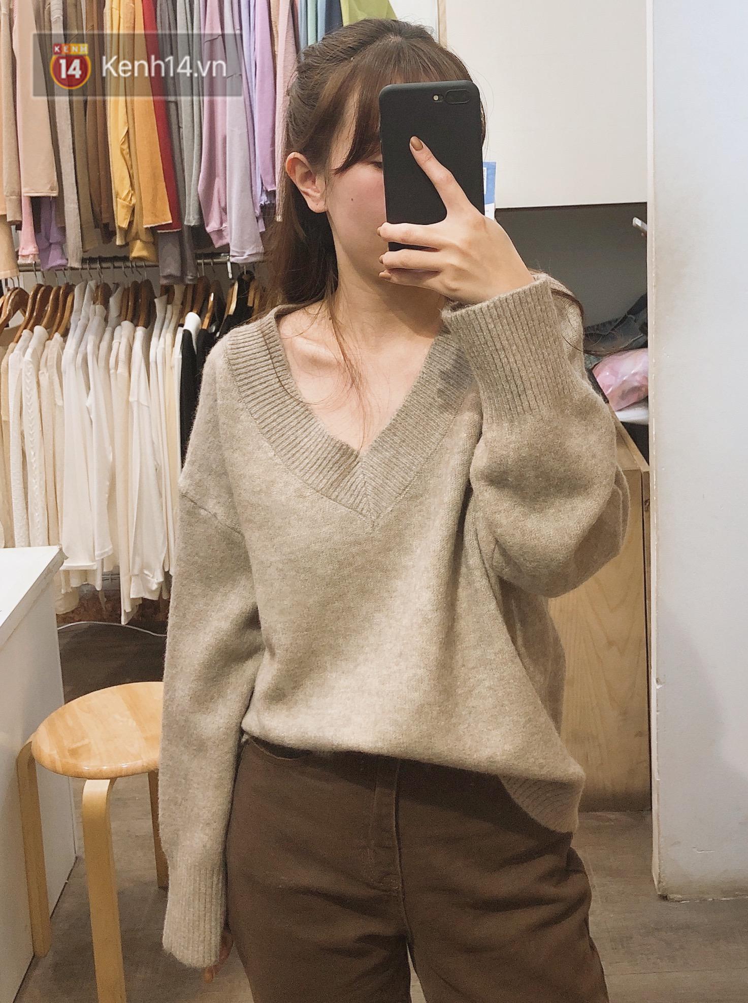 Mua áo len ở khu Chùa Láng: Chỉ từ 280K đã sắm được áo vừa xinh vừa ấm - Ảnh 3.