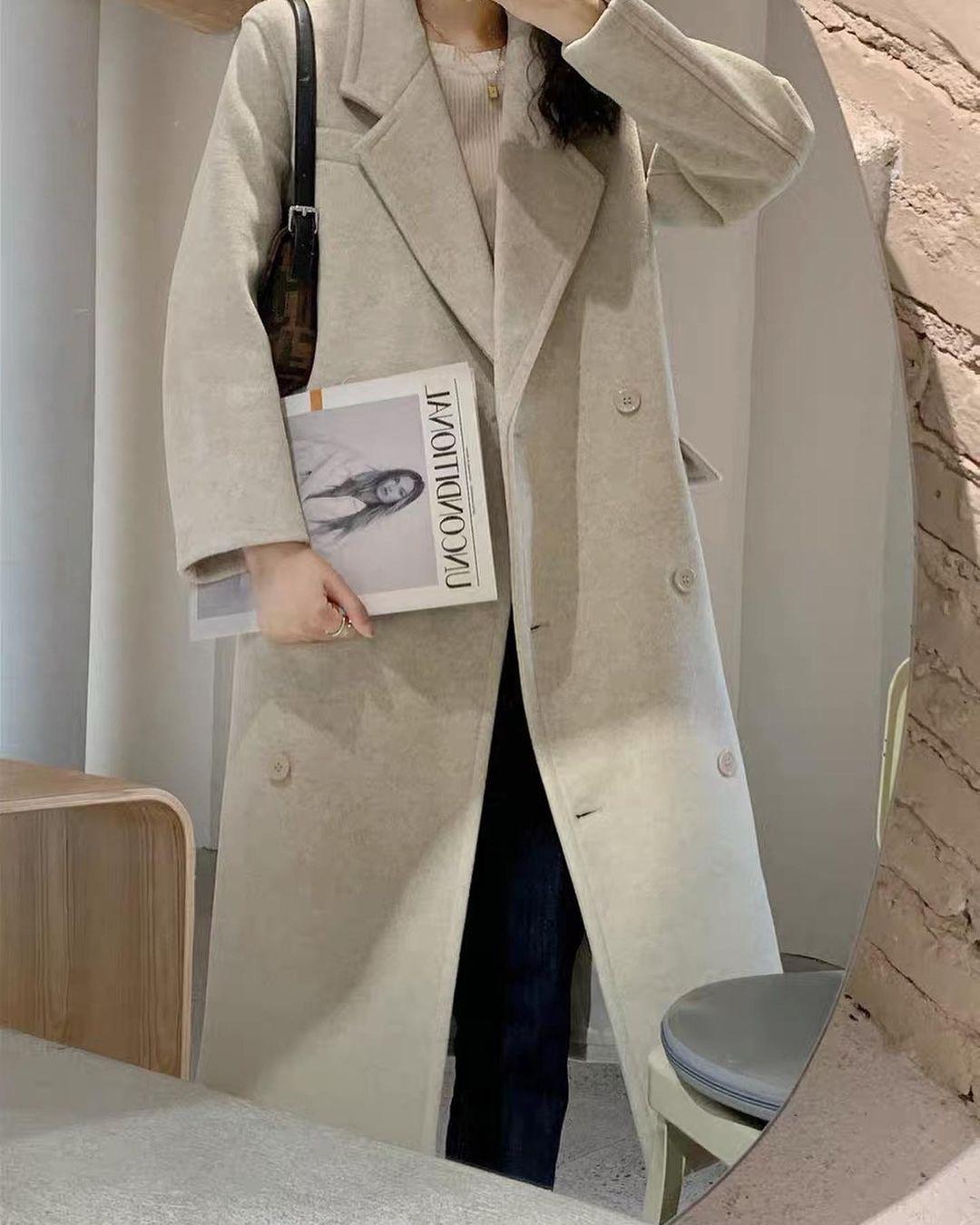 Bạn sắm áo dạ dáng dài chưa: Đầy mẫu xinh ngất mà giá chỉ từ 490K này - Ảnh 4.
