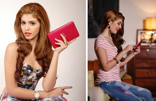 Andrea thời trang với máy tính bảng Mỹ Coby Kyros 3