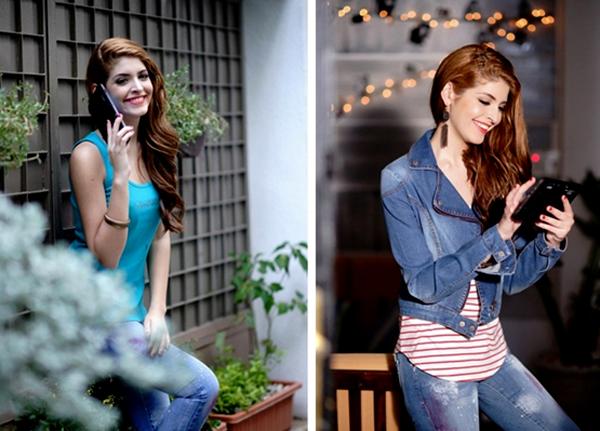Andrea thời trang với máy tính bảng Mỹ Coby Kyros 4