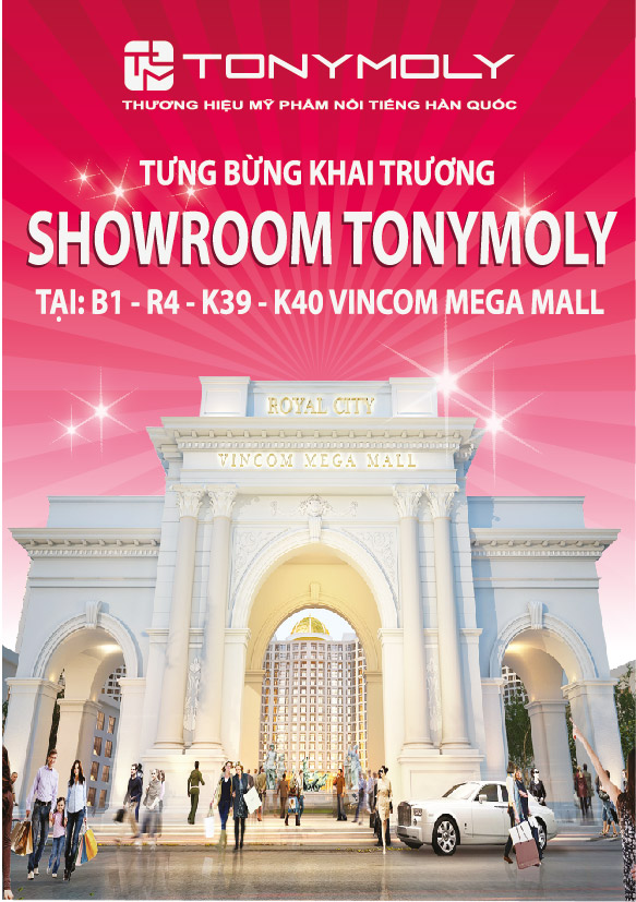 Tonymoly khai trương showroom thứ 15 tại Vincom Mega Mall 3