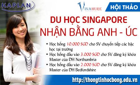 Hội thảo du học Singapore: Học bổng lên tới 10.000 SGD từ KAPLAN 1