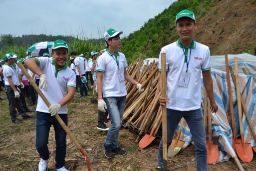 Hàng trăm bạn trẻ hào hứng cùng Honda phủ xanh rừng - Ảnh 3.