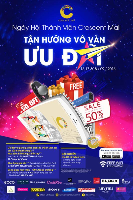 Thêm ưu đãi, thêm tiện ích cùng chương trình thẻ thành viên điện tử e-Membership Crescent Mall - Ảnh 4.