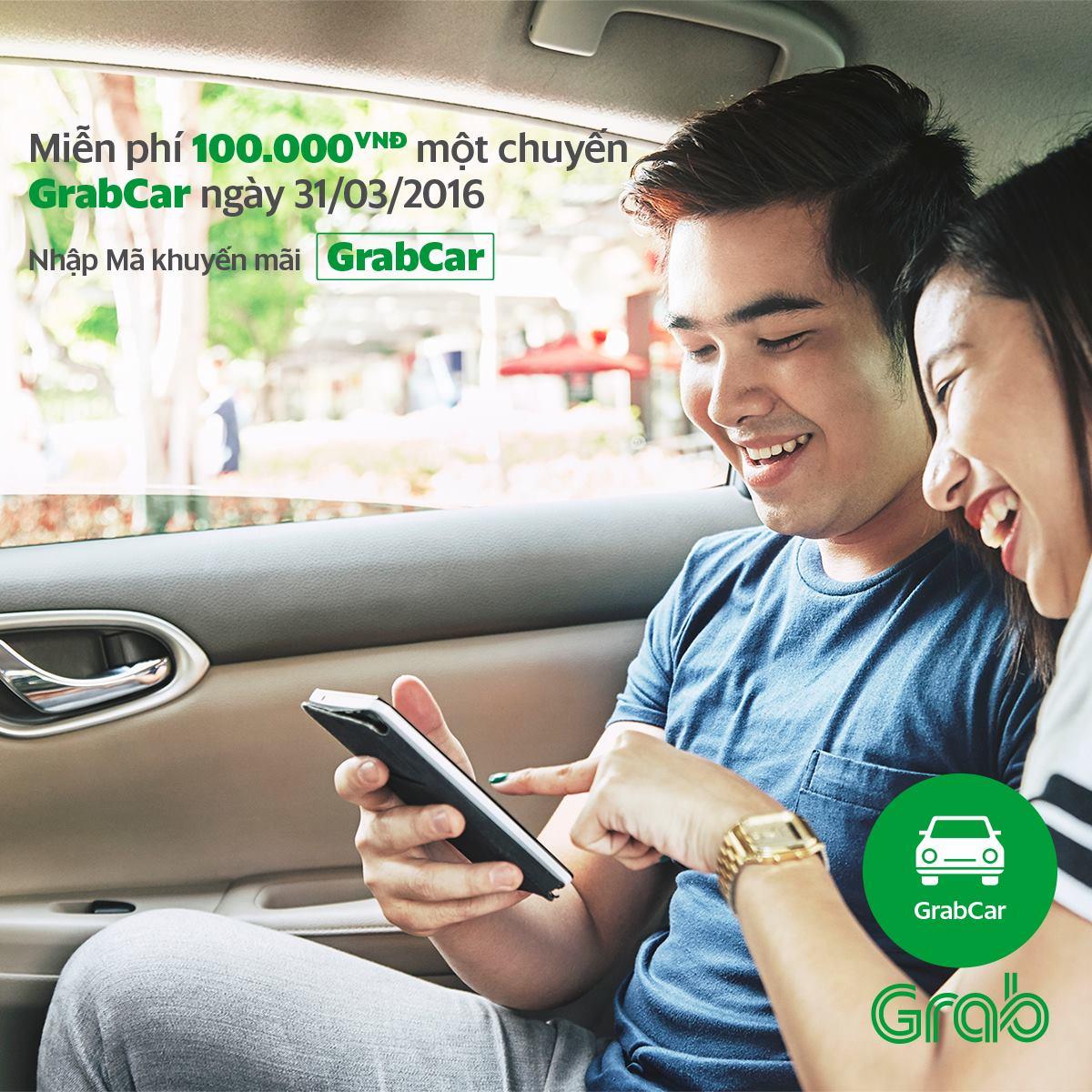Miễn phí 100.000 đồng một chuyến đi GrabCar ngày 31/03/2016 - Ảnh 1.