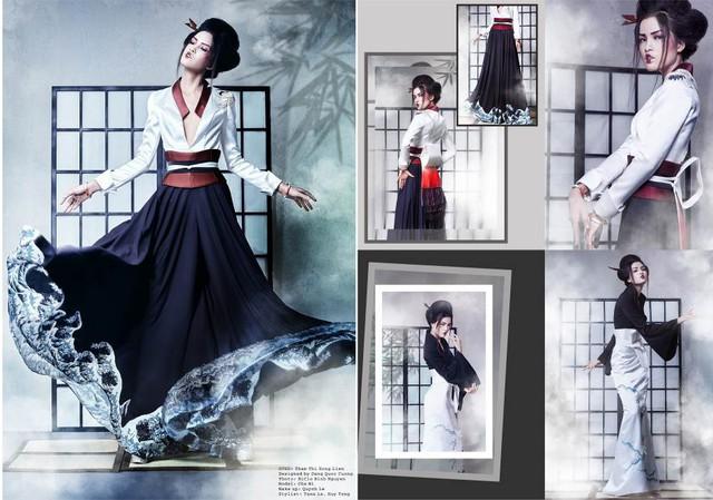 """""""Giấc mơ Geisha"""" của SV HUTECH dự thi """"Nhà Thiết kế Tài năng Việt Nam"""" - Ảnh 1."""