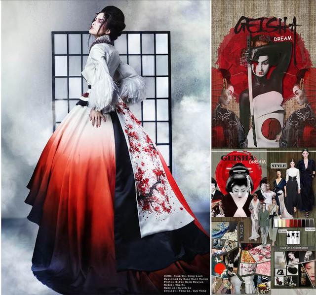"""""""Giấc mơ Geisha"""" của SV HUTECH dự thi """"Nhà Thiết kế Tài năng Việt Nam"""" - Ảnh 2."""