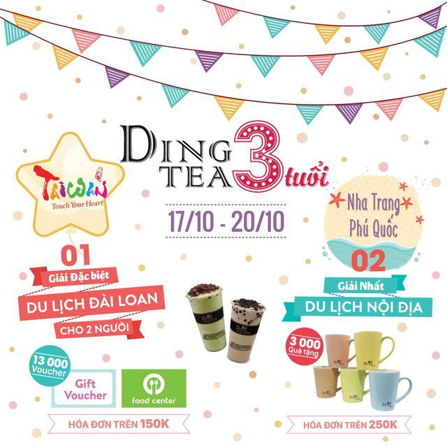 Mừng 3 năm sinh nhật hệ thống Ding Tea – Trúng quà lớn - Ảnh 1.