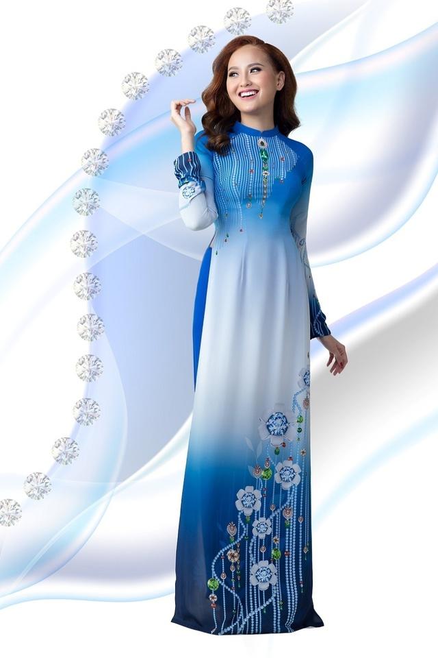 Cảm hứng đá quý trong bộ sưu tập áo dài Ngọc Khuê Các - Ảnh 2.