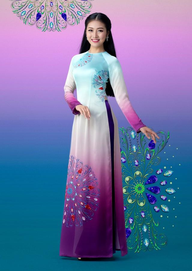 Cảm hứng đá quý trong bộ sưu tập áo dài Ngọc Khuê Các - Ảnh 6.