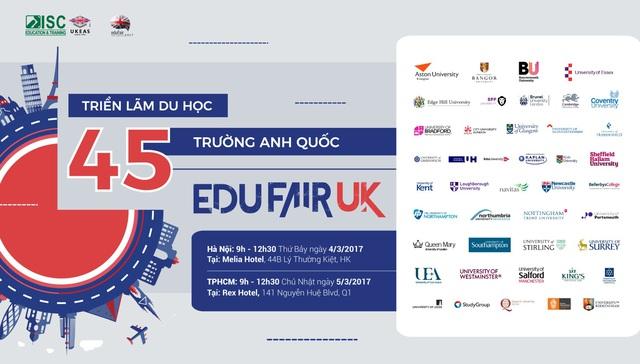 Triển lãm du học 45 trường Anh Quốc eduFairUK tái xuất - Ảnh 1.