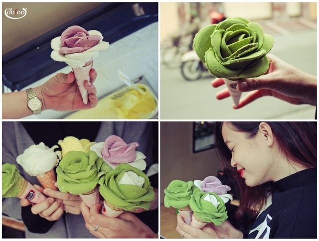 Kem hoa hồng đổ bộ Hà Nội - Ảnh 4.