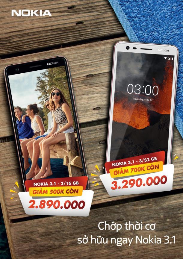 Chớp thời cơ sở hữu smartphone Nokia 3.1 với mức giá chấn động - Ảnh 1.