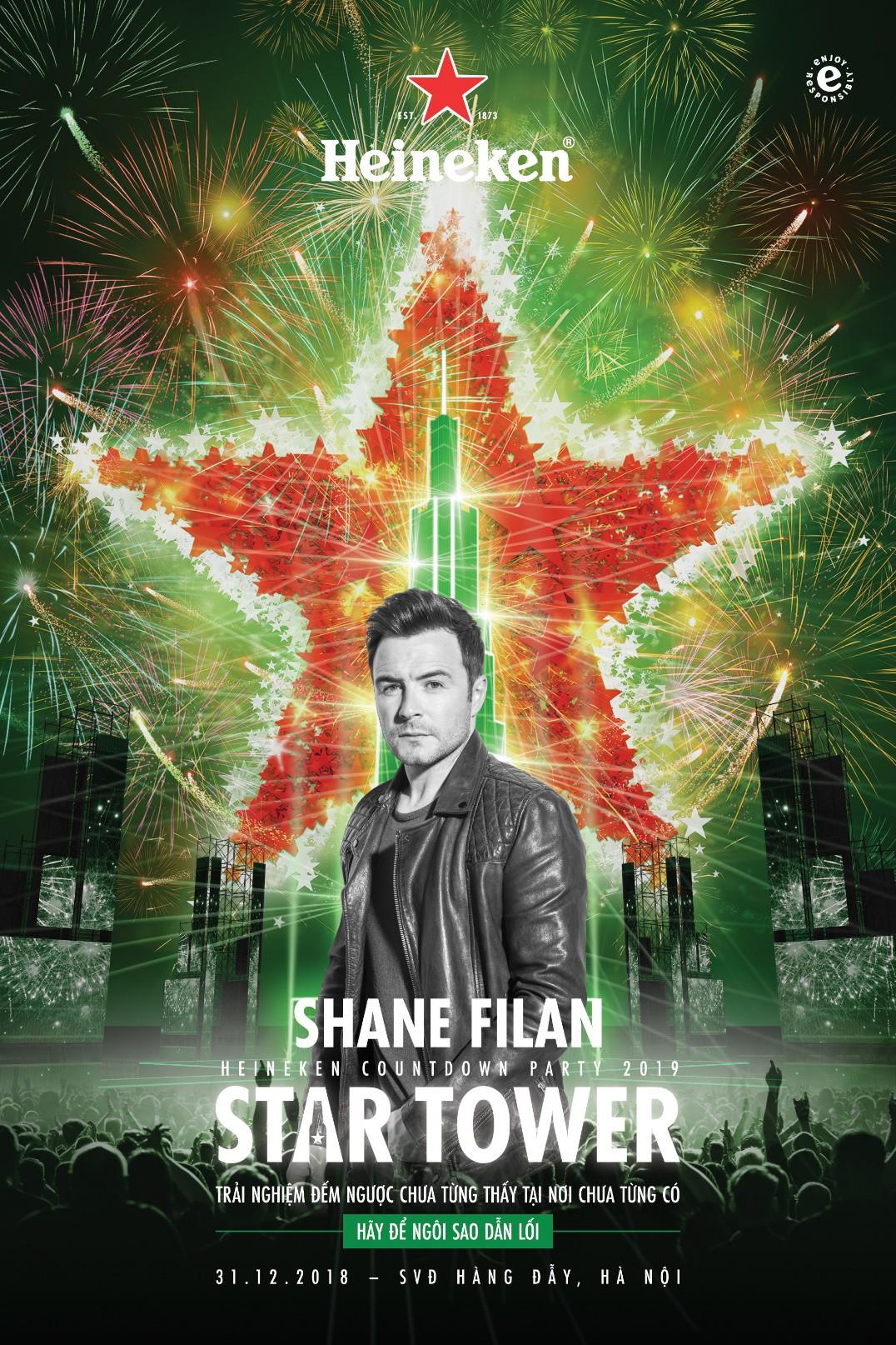 Noo Phước Thịnh, Tiên Tiên hội ngộ Shane Filan hứa hẹn một đêm nhạc Countdown Party 2019 bùng nổ - Ảnh 1.