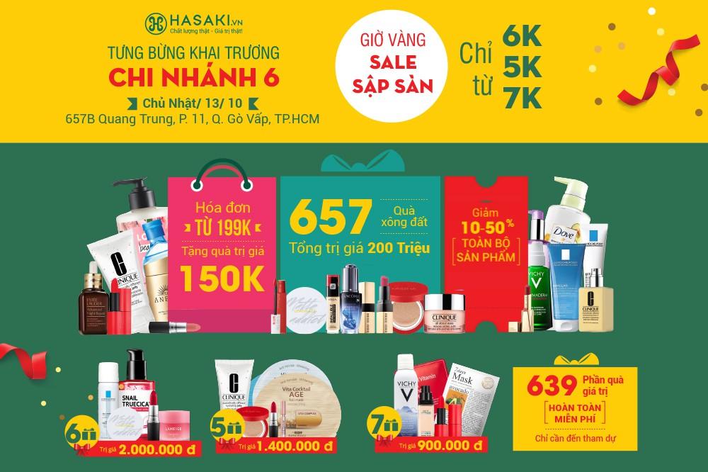 Hơn 500 nhãn hàng tài trợ 657 phần quà miễn phí trị giá 200 triệu mừng khai trương chi nhánh 6 của Hasaki - Ảnh 5.