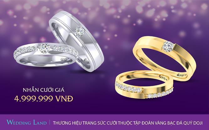 Tuần lễ Trang sức DOJI 2019: Đừng bỏ lỡ 100 cặp nhẫn cưới giá 4.999.999 đồng - Ảnh 2.