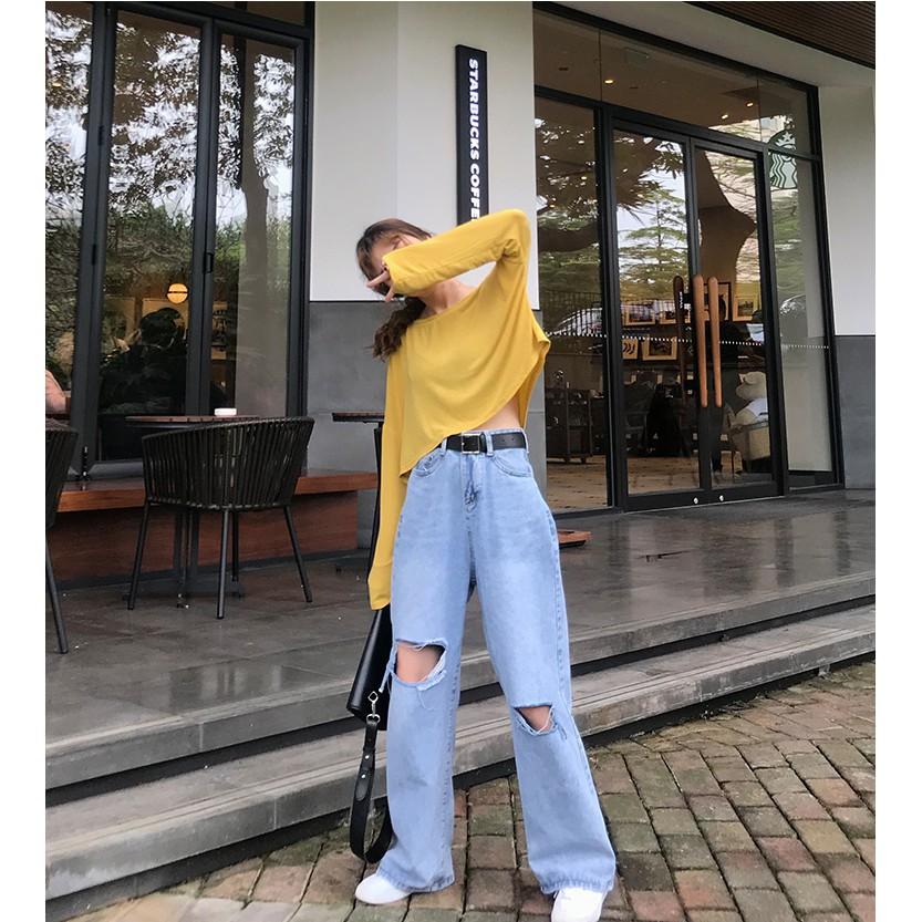 Có một item cứ diện vào là auto hack chiều cao cực chuẩn, đó chính là quần jeans ống rộng - Ảnh 7.