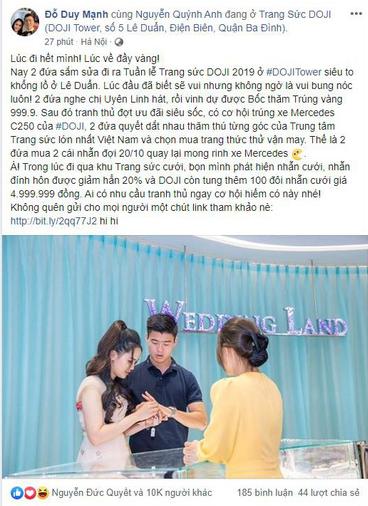 Đến Tuần lễ Trang sức DOJI 2019, Duy Mạnh mua nhẫn kim cương tặng bạn gái dịp 20/10 - Ảnh 6.