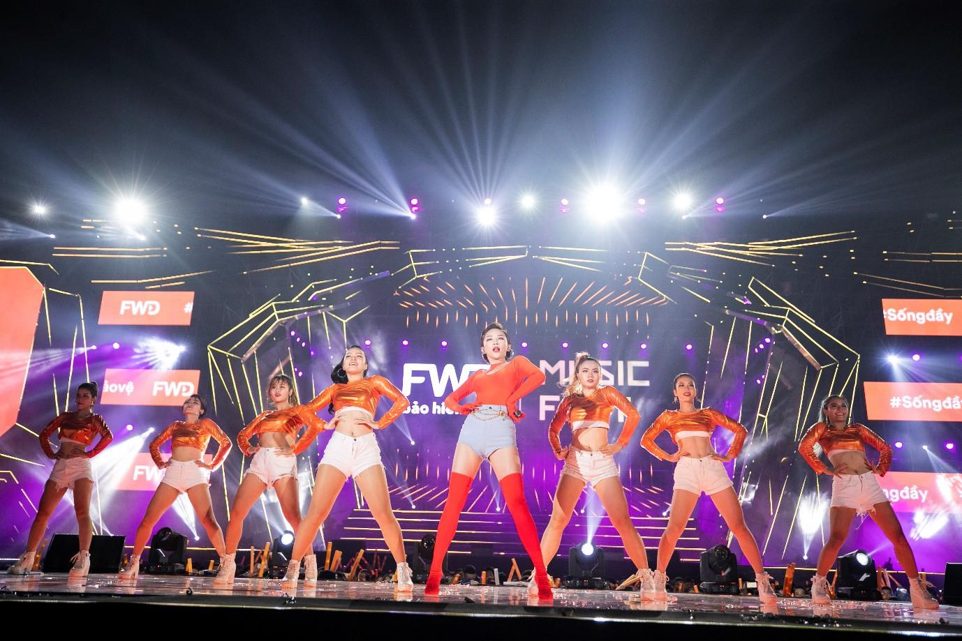 Sơn Tùng M-TP, Đen Vâu, Tóc Tiên, Hồ Ngọc Hà… mang đến quá nhiều màn trình diễn đỉnh cao tại FWD Music Fest - Ảnh 2.