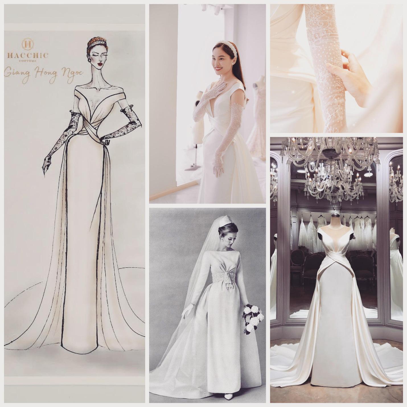 Sau Đông Nhi, Bảo Thy, đến lượt Giang Hồng Ngọc thử váy trước thềm đám cưới - Ảnh 2.