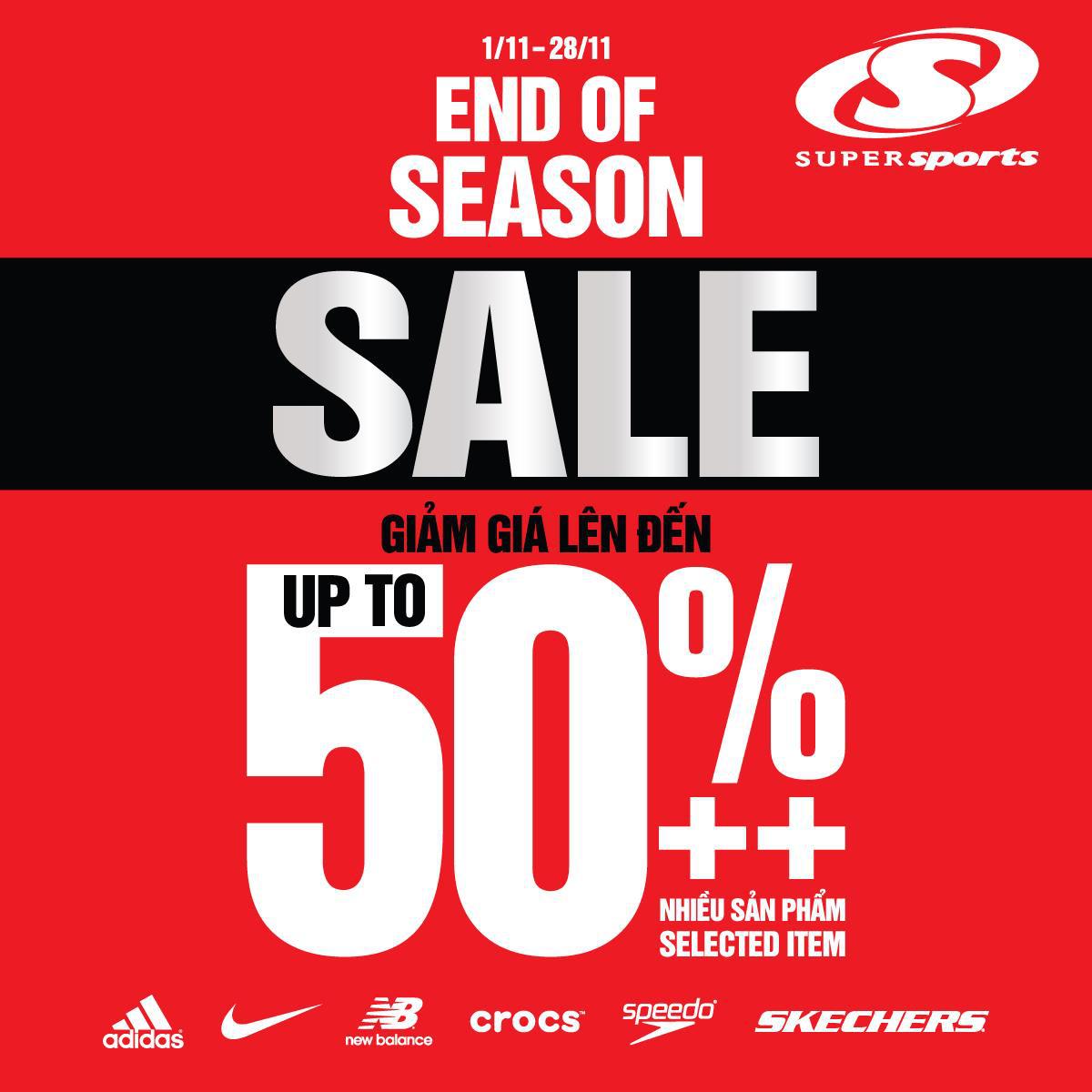 """Supersports """"chơi lớn"""", ưu đãi lên đến 50% cho rất nhiều sản phẩm trong mùa mua sắm cuối năm - Ảnh 1."""