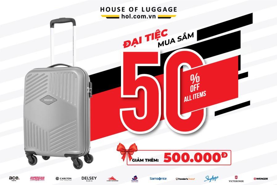 House Of Luggage tung 50.000 vali hàng hiệu chỉ từ 699.000 đồng - Ảnh 1.