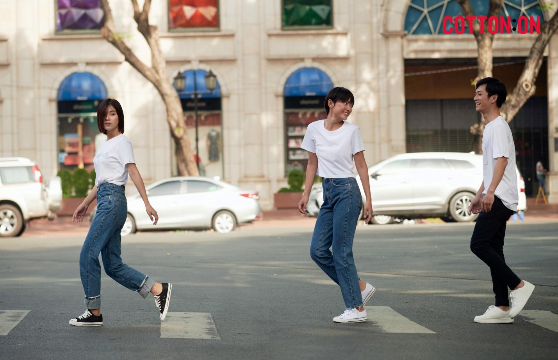 Hoàng Yến, Trần Nghĩa và Hồ Thu Anh trẻ trung với thời trang quốc tế đến từ Úc - COTTON:ON - Ảnh 5.