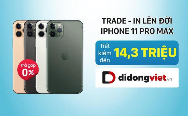 Đổi iPhone Xs Max lấy iPhone 11 Pro Max chỉ trả thêm khoảng 12,8 triệu đồng - Ảnh 2.