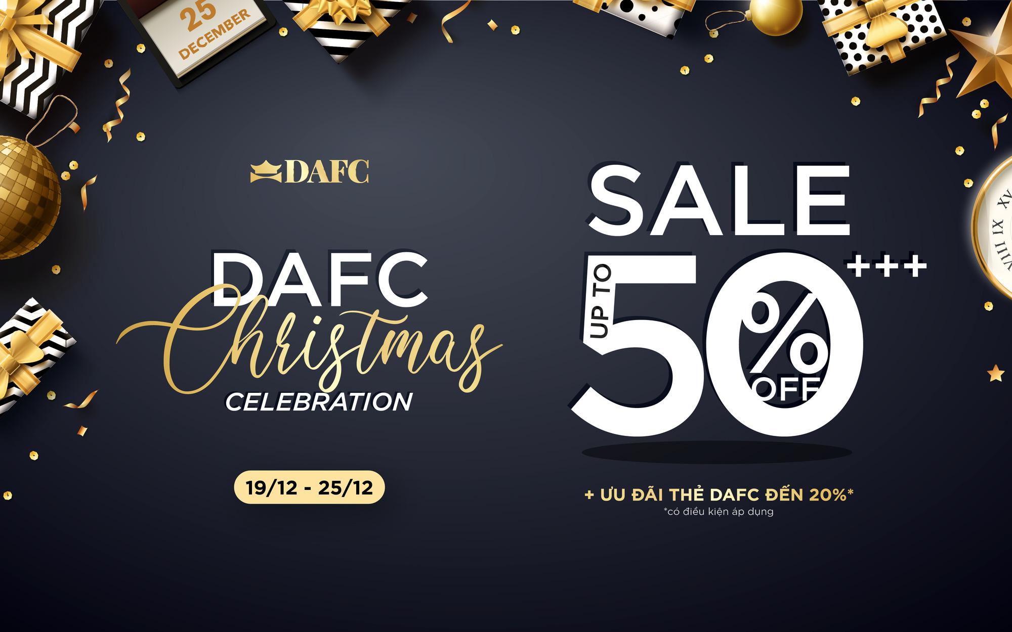 Happy Christmas – Bùng nổ ưu đãi 50%++ của hơn 60 thương hiệu hàng đầu thế giới cùng DAFC - Ảnh 1.