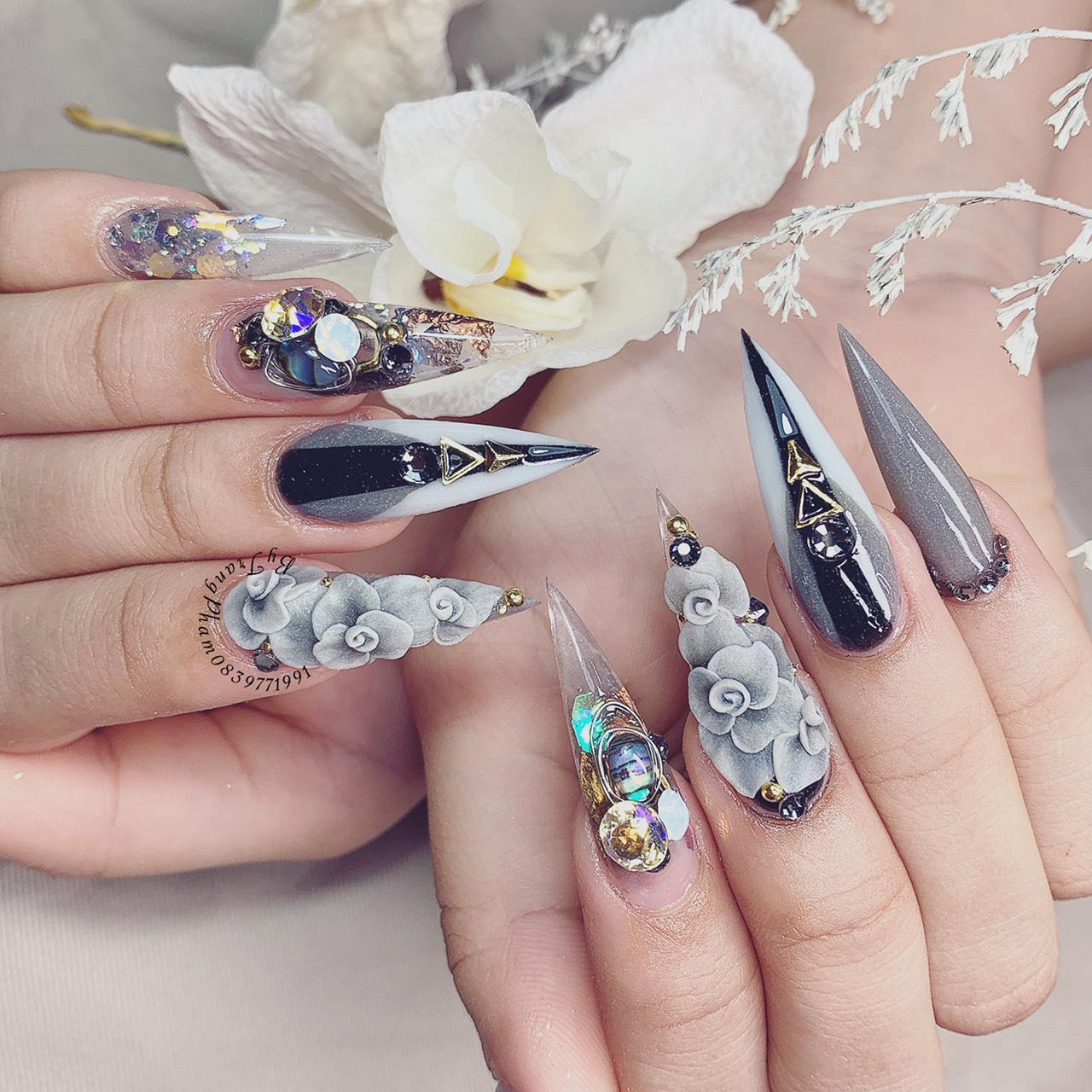 Bộ sưu tập nails sang trọng, đẳng cấp từ chuyên gia Trang Phạm - Ảnh 5.