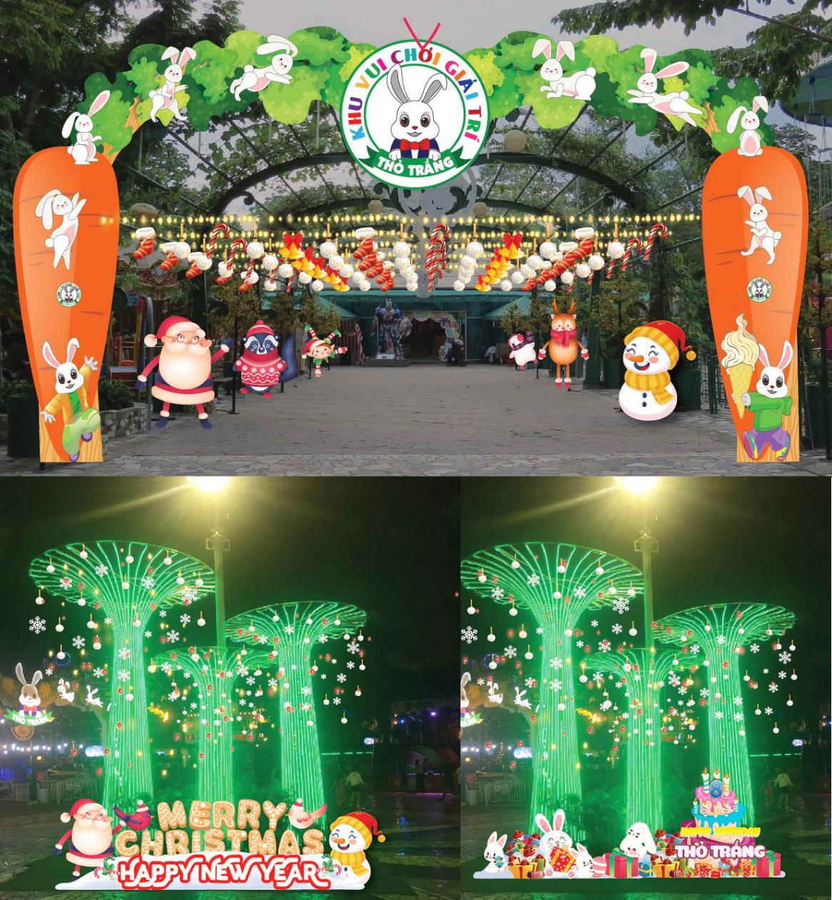 Noel ấm áp cùng hệ thống khu vui chơi Thỏ Trắng - Ảnh 1.