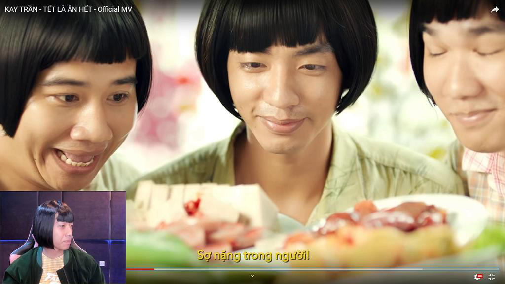 """Cris bỗng hóa thân thành Kay Trần reaction """"Tết là ăn hết"""" siêu hài hước - Ảnh 6."""