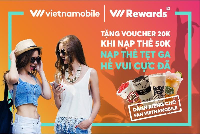 Đại lễ làm gì, đi đâu: nạp thẻ Vietnamobile 50k, nhận 20k đi ăn mọi nơi - Ảnh 1.