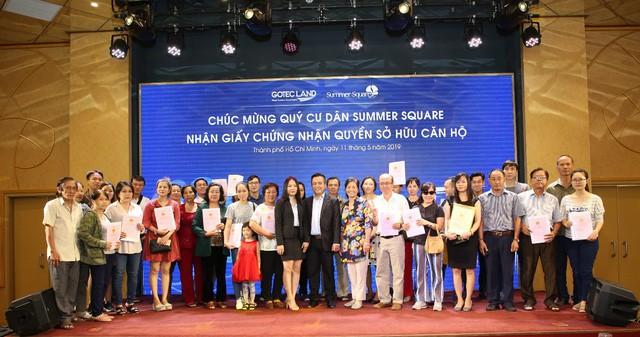 Gotec Land trao Giấy chứng nhận quyền sở hữu căn hộ cho cư dân Summer Square đợt 2 - Ảnh 2.