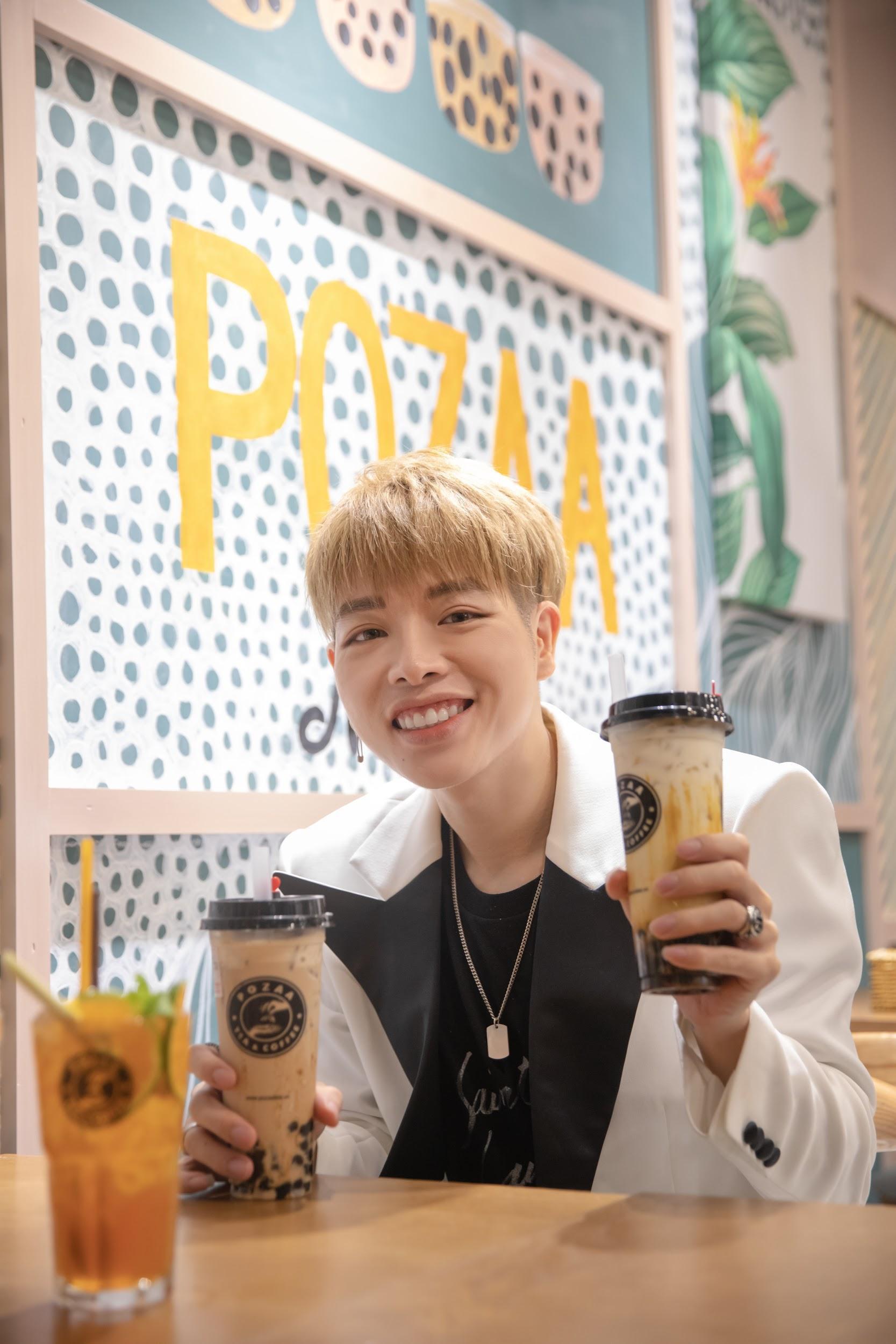 Pozaa Tea chào đón Đức Phúc bằng cơn mưa trà sữa - Ảnh 3.