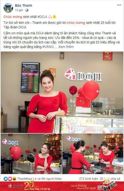 Bảo Thanh và hàng ngàn khách hàng nhận quà dịp sinh nhật DOJI - Ảnh 2.