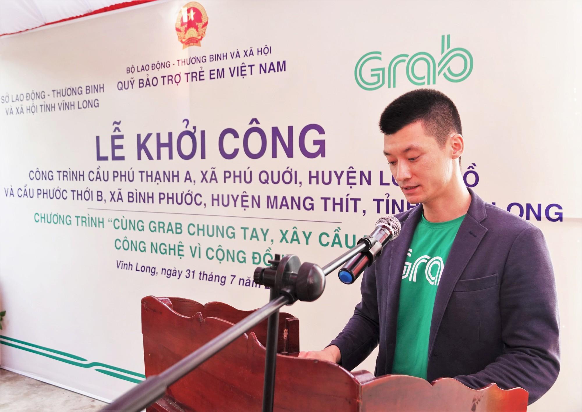 """Khởi công xây dựng hai cây cầu đầu tiên của Dự án """"Cùng Grab Chung Tay - Xây Cầu Đến Lớp"""" - Ảnh 2."""