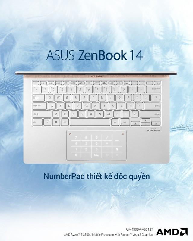 ZenBook UM433 – thế hệ ZenBook cao cấp được trang bị sức mạnh từ vi xử lí AMD ZEN+ - Ảnh 2.