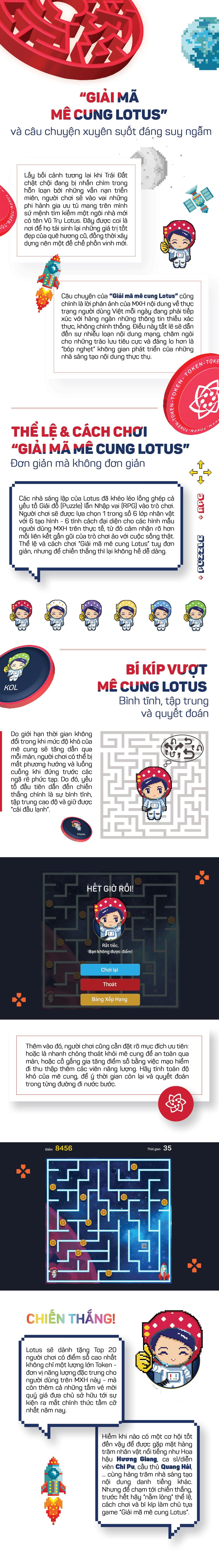 """Ôm trọn bí kíp phá đảo game """"Giải mã mê cung Lotus"""", giành vé tham dự sự kiện ra mắt MXH hot nhất năm - Ảnh 1."""