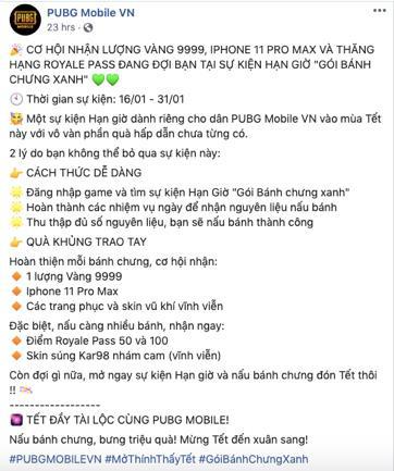 Gamers háo hức với event Gói bánh chưng xanh PUBG Mobile dành riêng cho Việt Nam mùa Tết năm nay - Ảnh 1.