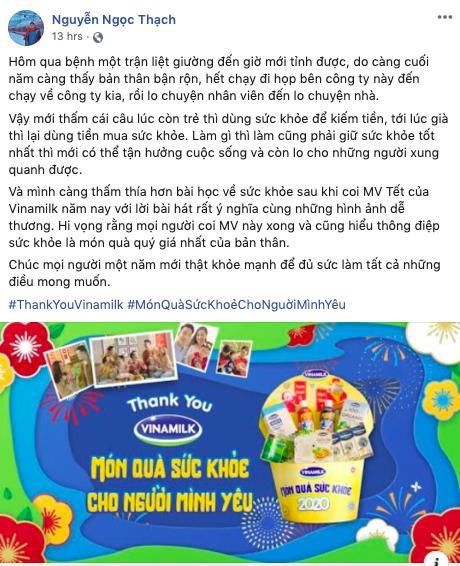 """MV Tết """"Thank you Vinamilk"""" Thông điệp ý nghĩa về món quà sức khỏe - Ảnh 2."""