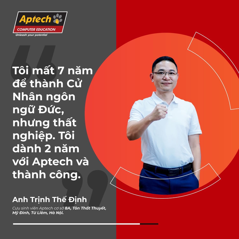 Phó giám đốc 8X học lập trình, phất sự nghiệp nhờ Aptech - Ảnh 1.