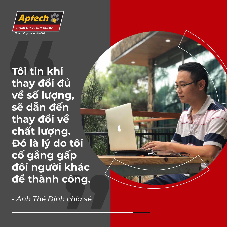 Phó giám đốc 8X học lập trình, phất sự nghiệp nhờ Aptech - Ảnh 2.