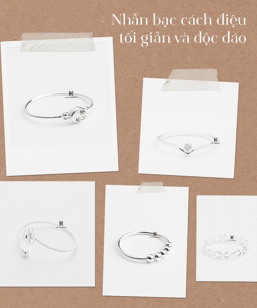 Gợi ý quà tặng trang sức bạc cao cấp trên dưới 200k - lựa chọn tinh tế cho phái đẹp dịp 20/10! - Ảnh 1.