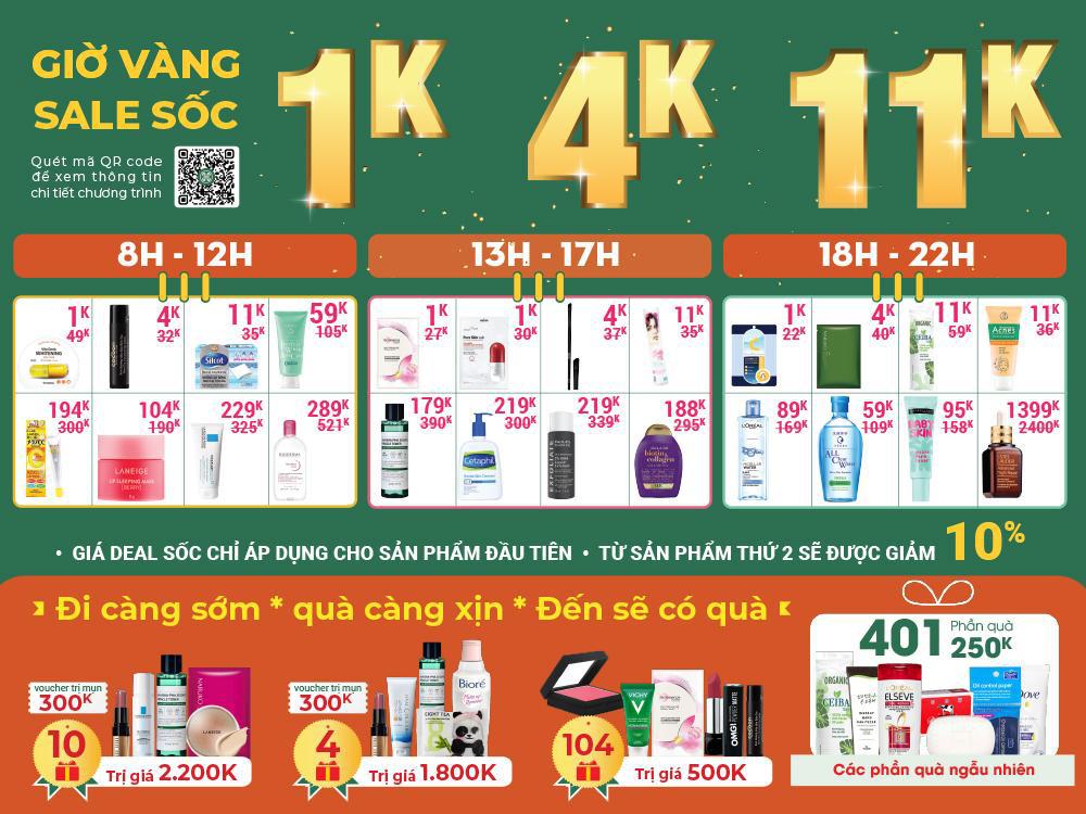 """Khai trương chi nhánh 11: Hasaki """"chơi lớn"""" bán mỹ phẩm chính hãng """"sang - xịn"""" giá chỉ 1.000 đồng - Ảnh 1."""