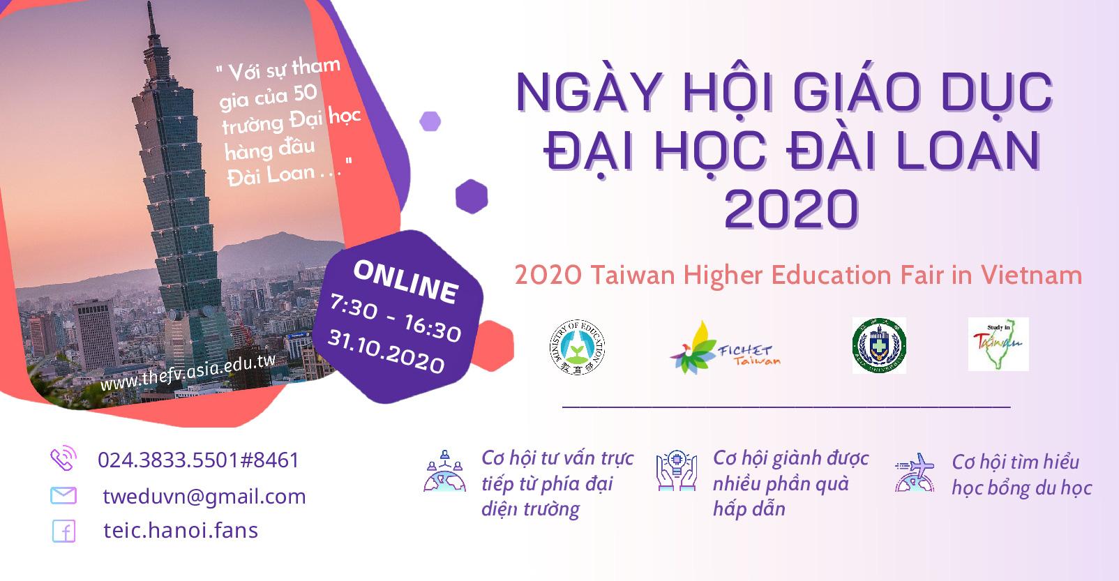 Ngày hội Giáo dục Đại học trực tuyến Đài Loan năm 2020 - Ảnh 1.
