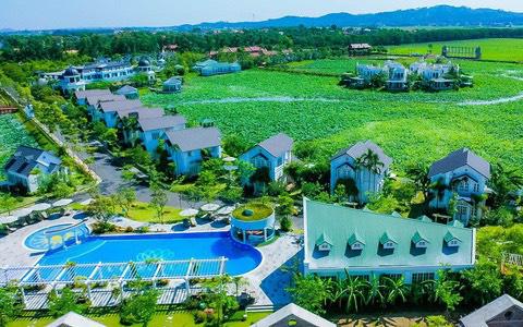 Công dụng tuyệt vời cho sức khỏe từ khoáng nóng tại Vườn Vua Resort & Villas - Ảnh 1.